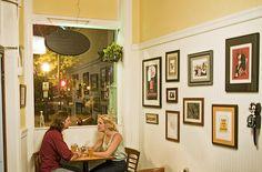 My 'Toast' print on the wall in Garnett's Cafe, Richmond, VA! #garnettscafe #richmond #virginia #framed #art #wall