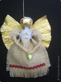 Oi Meninas(os)   Boa Tarde!!!!!   Achados na net...     ACHEI NA NET  Anjinho de tecido e papel crepom, muito interessante!!!!!  Passo a Pas...