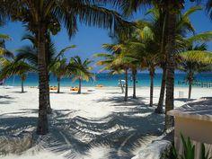 Mexico, Riviera Maya white sand beaches