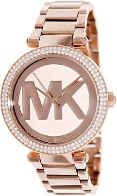 021db98a240 New Michael Kors Parker Rose Gold-Tone Stainless Steel Ladies Watch