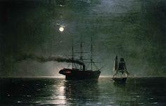 Ivan Aivazovsky, Ships in the Stillness of the Night   Dark Classics