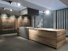 Fossilized Beechwood Kitchen - Toncelli Cucine