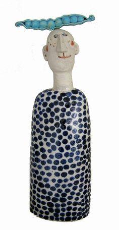 Ceramic artist - Jane Muir's Pea Pod man. He is calling my name.