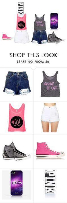 """""""summer outfits"""" by fashion41323 ❤ liked on Polyvore featuring Topshop, After Party, Converse and Victoria's Secret PINK"""