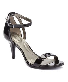 Another great find on #zulily! Black Patent Muriel Ankle-Strap Sandal #zulilyfinds