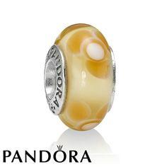 Pandora Yellow Flower For You Murano Charm-WISH LIST-I need a yellow one!