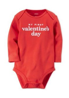 Carters  Printed My First Valentines Day Bodysuit