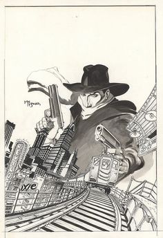The Shadow...knows.  By Michael Kaluta.