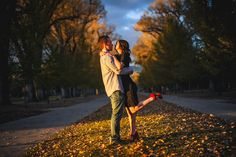 Fall engagement pictures in Liberty Park, Salt Lake City, Utah.