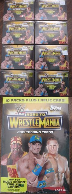 Other Sports Trading Cards 217: Factory Sealed 8 Box Lot - 2015 Topps Road To Wrestlemania Wwe Wrestling Cards -> BUY IT NOW ONLY: $158.99 on eBay!