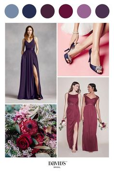 7a3c66029353 Check out David's Bridal Mix & Match bridesmaid dresses guide and let them  shine in different styles, colors ...