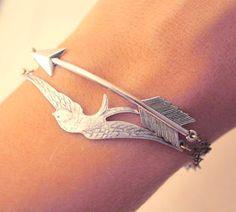 sparrow + arrow bracelets