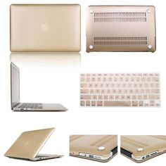 "11"" 13"" 15"" Rubberized Champagne Gold Hard Case For Macbook Pro Air A12 13 14 #Image"