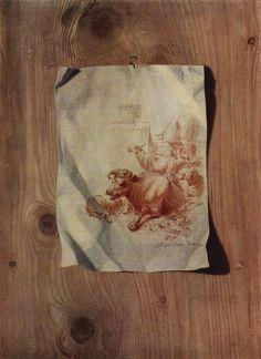 Trompe l'œil, Johann Heinrich Füssli, 1750