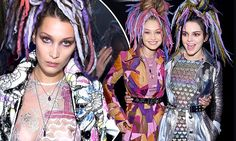 Kendall Jenner and Gigi Hadid show off bizarre wigs at Marc Jacobs