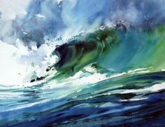Jo Cibere #watercolor jd Watercolor Ocean, Watercolor Trees, Watercolor Artwork, Watercolor Pencils, Watercolor Artists, Watercolor Landscape, Abstract Landscape, Watercolors, Kinder Art