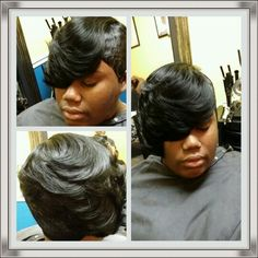 Short weave styles on Pinterest   Black Hair Salons, Quick Weave and ...