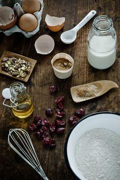 Spiced Cranberry Pistachio Muffins