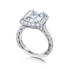 TACORI Halo Platinum Diamond Engagement Ring HT2650EC105X85 #ArthursJewelers