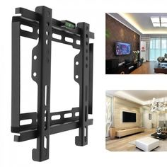 Universal TV Wall Mount Bracket LCD LED Frame Holder with Level Standard for Most 12 to 37 Inch HDTV Flat Panel TV
