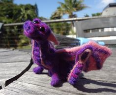My first needle felting project.... Norbert the Dragon :) Andrea Blackman Creations!