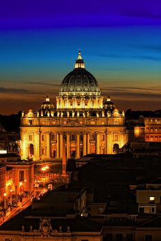 St. Peter's Basilica, Vatican City. I would love to attend Christmas Eve mass here