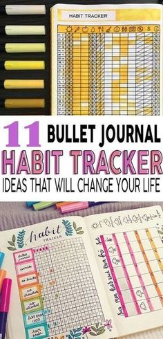Habit tracker ideas I am going to try in my bullet journal! #bulletjournal #bujo #habittracker