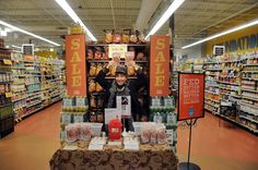 Lisa getting nutty at a Whole Foods market demo tasting in New England, the home of That Nutty Redhead Praline Gourmet Nuts.