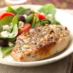 Mediterranean Pork Chops From:  diabeticliingonline.com  /  Better Homes Tet Kitchen   ~
