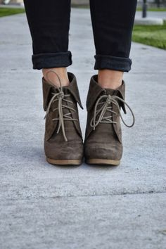 Fall booties with jeans. My favorite trend right now. Have tall boots, figures that short ones would now be appealing!