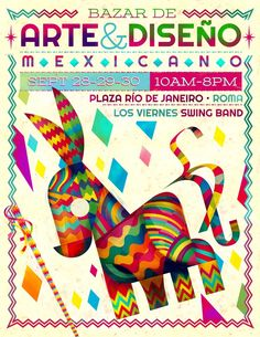 Póster de Bazar de Arte & Diseño Mexicano