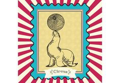 Vitnage Circus Vector Seal Card -  This vintage circus vector postcard is very colorful and playful. For any circus project this would be a very good option for providing a textured style line.  - https://www.welovesolo.com/vitnage-circus-vector-seal-card-2/?utm_source=PN&utm_medium=welovesolo%40gmail.com&utm_campaign=SNAP%2Bfrom%2BWeLoveSoLo