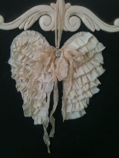 Angel wings Christmas Ornament wreath by burlapheartstrings, $22.00
