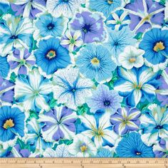 Designed by Kaffe Fassett for Westminster Fabrics, this cotton fabric is perfect for quilts, apparel and home decor accents. Colors include blue, green, yellow and white.