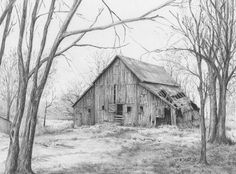 Pencil Drawing Tutorials BARNS - Graphite Pencil Drawings by Diane Wright Barn Drawing, Drawing Sketches, Painting & Drawing, Watercolor Paintings, Sketching, Drawing Tips, Pencil Drawing Tutorials, Art Tutorials, Graphite Drawings