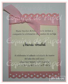 Detalle de la imagen de -Invitaciones de Bautizo & Primera Comunión   INVBA-04
