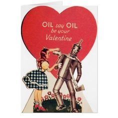 Vintage Dorothy and Tin Man Valentine's Day Card - tap, personalize, buy right now!