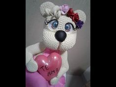 DIY- Fran aulas - Parceria nova - ursa apaixonada - biscuit