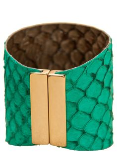 PurpleMango – Turquoise Fish Leather Cuff from Mamamia