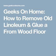 how to clean old glue off concrete