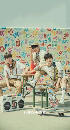 Wanna One Unit: Triple Position (Kim Jaehwan, Kang Daniel, Park Woojin) Wallpaper