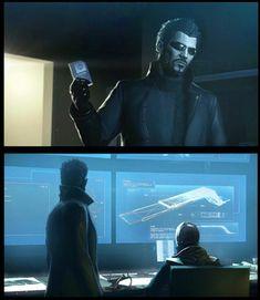 Adam Jensen, Deus Ex Mankind Divided Deus Ex Universe, Deus Ex Mankind Divided, Video Game Characters, Fictional Characters, Comic Panels, Cyberpunk, Badass, Fun Facts, Husband
