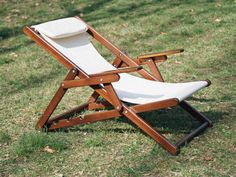 Leather Chair With Ottoman Pool Patio Furniture, Folding Furniture, Metal Furniture, Diy Furniture, Furniture Design, Wood Ironing Boards, Teak Rocking Chair, Wood Pallet Planters, Folding Beach Chair