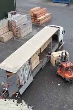 Unloading of our fresh oak.