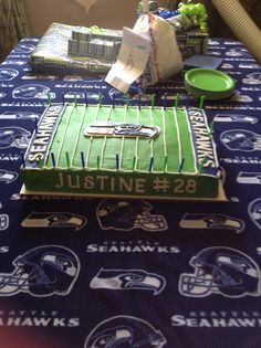 Seahawks birthday cake