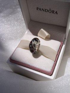 Pandora Charm Black Bubbles Murano Glass by JEWELSELAGANT on Etsy, $25.00