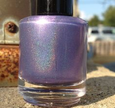 """Nurple"" linear holographic nail polish by Vapid Lacquer Holographic Nail Polish, Frost, Indie, Perfume Bottles, Glitter, Nail Art, Cream, Search, Colors"