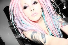 Pink dreads! #dreads http://data.whicdn.com/images/16642005/tumblr_l5m2fkrfD71qagngyo1_500_large.jpg