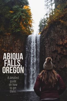Find out how to get to this beautiful waterfall in Oregon! Us Travel, Places To Travel, Places To See, Travel Tips, Oregon Road Trip, Oregon Travel, Visit Oregon, Oregon Waterfalls, Walter Mitty