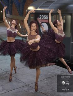 Teen Josie 8 and Genesis 8 Female are prima ballerinas with this wonderful set of dance poses featuring the beauty of ballet.